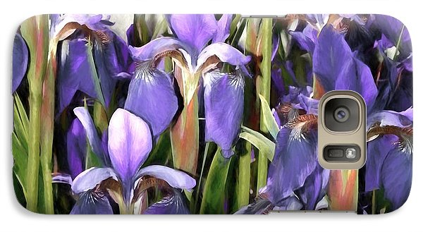 Galaxy Case featuring the photograph Iris Fantasy by Benanne Stiens