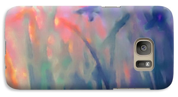 Galaxy Case featuring the painting Iris by Holly Martinson
