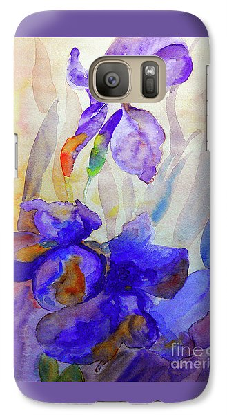 Galaxy Case featuring the painting Iris by Jasna Dragun