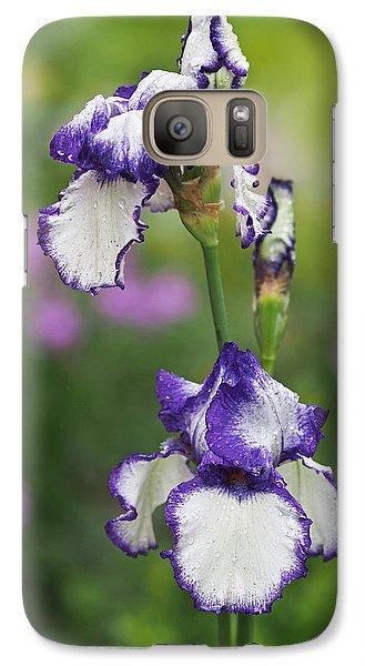 Iris Loop The Loop  Galaxy S7 Case by Rona Black
