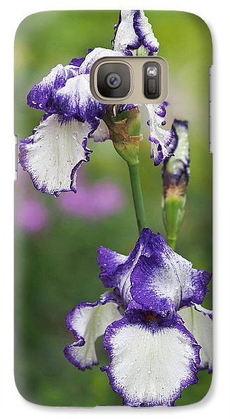 Galaxy Case featuring the photograph Iris Loop The Loop  by Rona Black