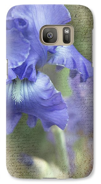 Galaxy Case featuring the photograph Iris Memories by Angie Vogel