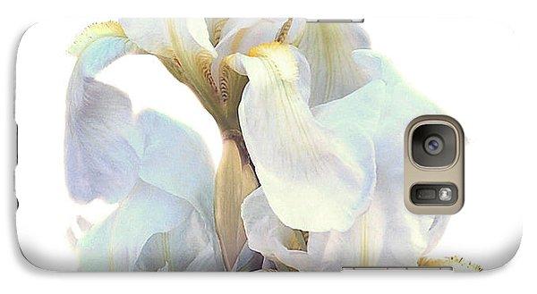 Galaxy Case featuring the photograph Iris On White by Ken Frischkorn