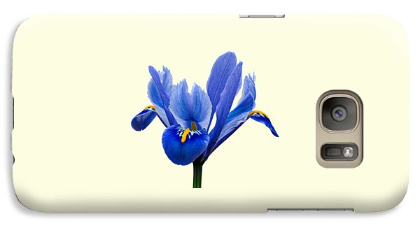 Galaxy Case featuring the photograph Iris Recticulata Transparent Background by Paul Gulliver