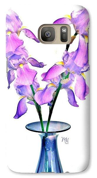 Galaxy Case featuring the digital art Iris Still Life In A Vase by Marsha Heiken