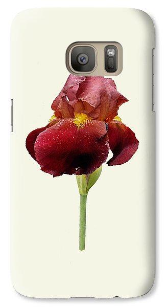 Galaxy Case featuring the photograph Iris Vitafire Cream Background by Paul Gulliver