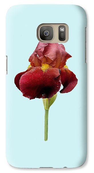Galaxy Case featuring the photograph Iris Vitafire Blue Background by Paul Gulliver