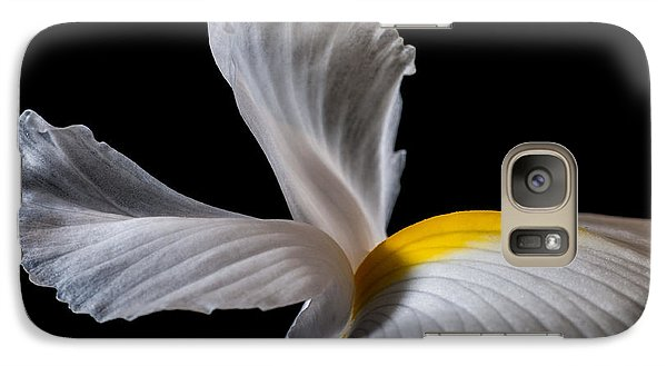 Galaxy Case featuring the photograph Iris Wings by Art Barker