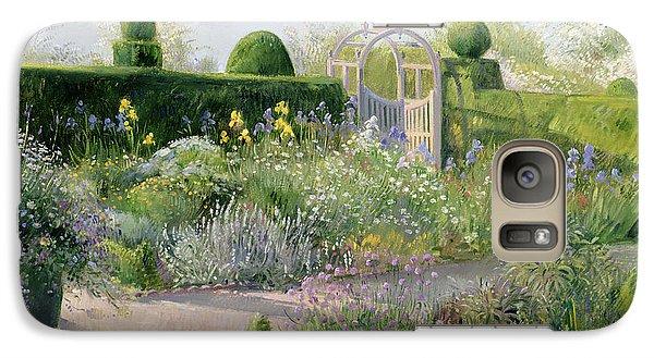 Irises In The Herb Garden Galaxy S7 Case