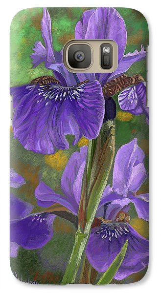 Irises Galaxy Case by Lucie Bilodeau