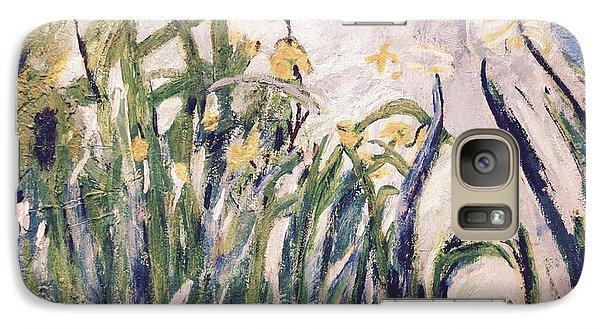 Galaxy Case featuring the painting Irises Revisited by Cynthia Morgan