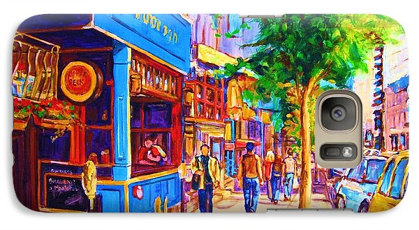 Galaxy Case featuring the painting Irish Pub On Crescent Street by Carole Spandau