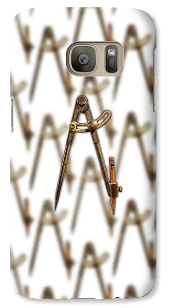 Galaxy Case featuring the photograph Iron Compass Pattern by YoPedro
