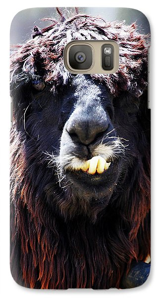 Galaxy Case featuring the photograph Is Your Mama A Llama? by Anthony Jones