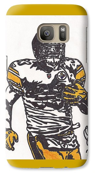 Galaxy Case featuring the drawing Isaac Redman by Jeremiah Colley