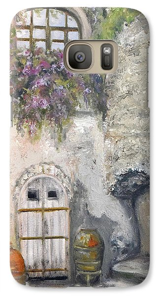 Galaxy Case featuring the painting Ischia Courtyard by Sandra Nardone