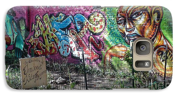 Galaxy Case featuring the photograph Isham Park Graffiti  by Cole Thompson