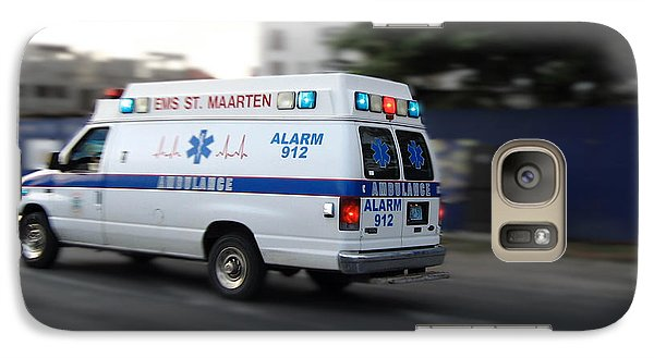 Galaxy Case featuring the photograph Island Ambulance by RKAB Works