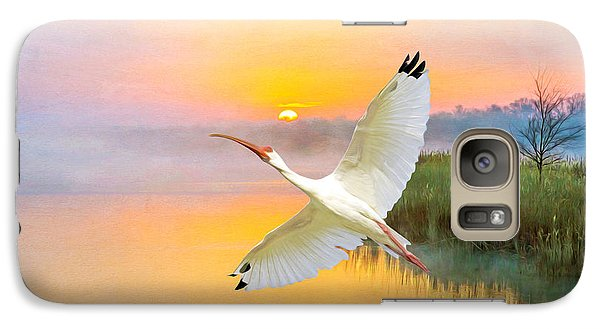 Ibis Galaxy S7 Case - Island Ibis by Laura D Young