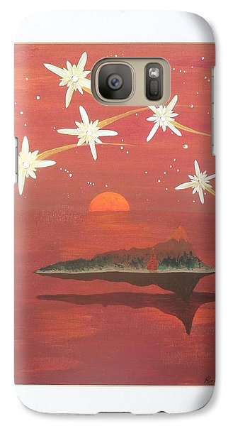 Galaxy Case featuring the painting Island In The Sky With Diamonds by Ron Davidson