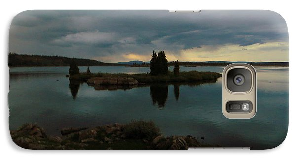 Galaxy Case featuring the photograph Island In The Storm by Karen Shackles
