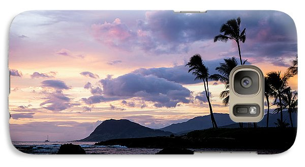 Galaxy Case featuring the photograph Island Silhouettes  by Heather Applegate