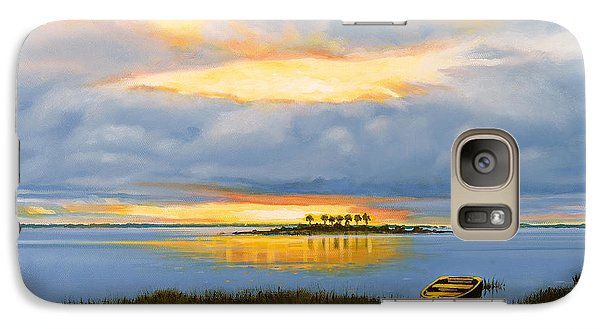 Galaxy Case featuring the painting Island Sunset by Rick McKinney