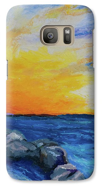 Galaxy Case featuring the painting Island Time by Stephen Anderson
