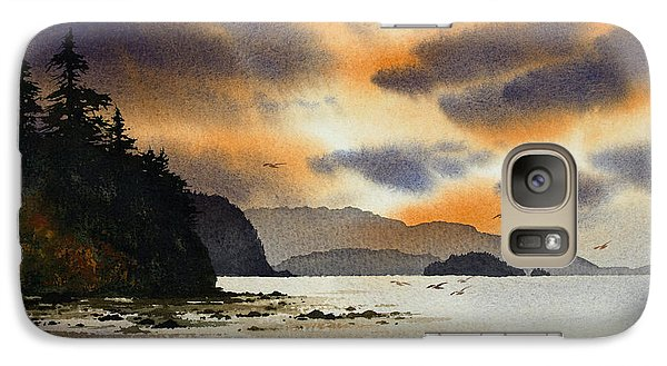 Galaxy Case featuring the painting Islands Autumn Sky by James Williamson