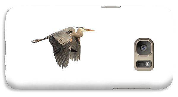 Galaxy Case featuring the photograph Isolated Great Blue Heron 2015-5 by Thomas Young