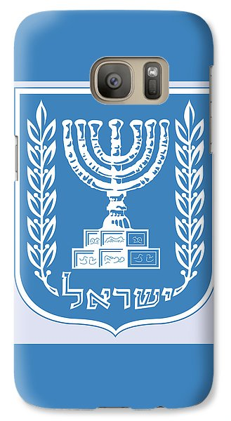 Galaxy Case featuring the drawing Israel Coat Of Arms by Movie Poster Prints