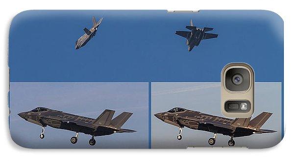 Galaxy Case featuring the digital art Israeli Air Force First Two F-35i Adir by Amos Dor