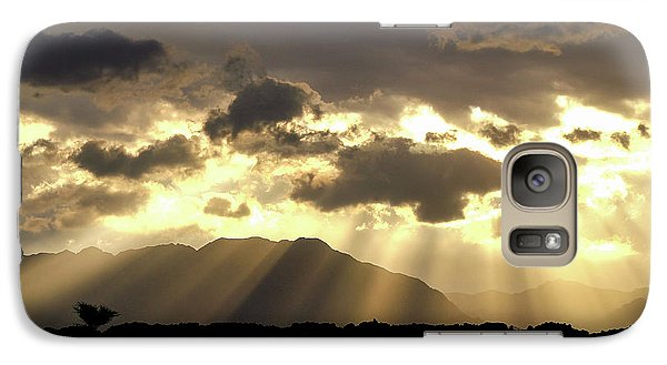 Galaxy Case featuring the photograph Israeli Desert Sunrise At Timna by Yoel Koskas