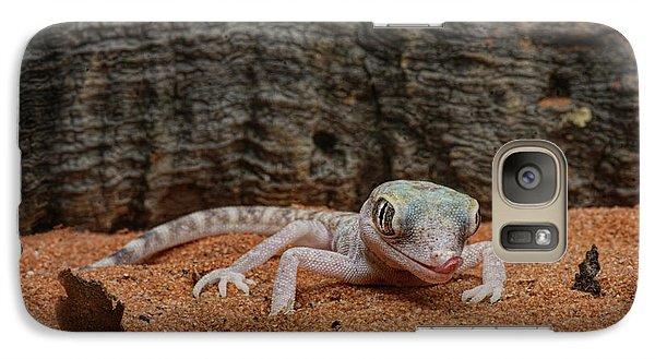 Galaxy Case featuring the photograph Israeli Sand Gecko - 1 by Nikolyn McDonald