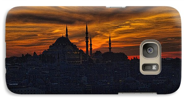 Istanbul Sunset - A Call To Prayer Galaxy Case by David Smith