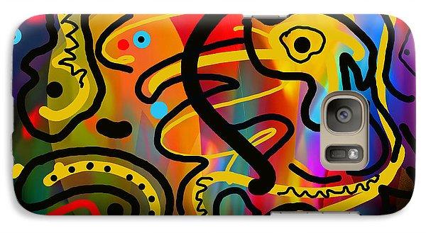 Galaxy Case featuring the digital art It Doesn't Surprise Me by Lynda Lehmann