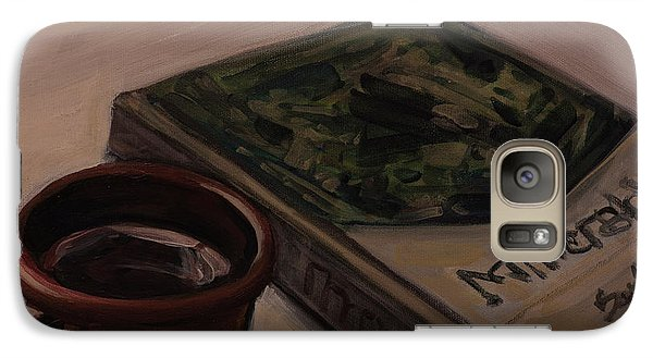 Galaxy Case featuring the painting It Is Coffee Time by Olimpia - Hinamatsuri Barbu