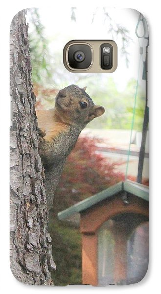 Galaxy Case featuring the photograph It Was Not Me I Tell Yuh by Marie Neder