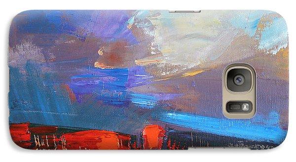 Galaxy Case featuring the painting It Will Soon Burst by Anastasija Kraineva