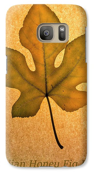 Galaxy Case featuring the photograph Italian Honey Fig Leaf 4 by Frank Wilson