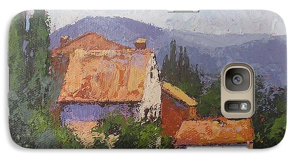 Galaxy Case featuring the painting Italian Village by Chris Hobel