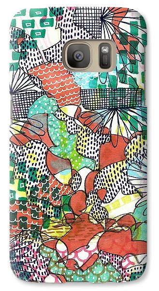 Galaxy Case featuring the mixed media It's A Jungle Out There by Lisa Noneman