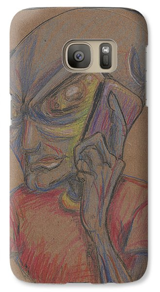 Galaxy Case featuring the drawing It's Brown by Similar Alien