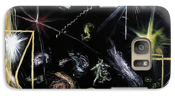Galaxy Case featuring the painting It's Full Of Stars  by Ryan Demaree