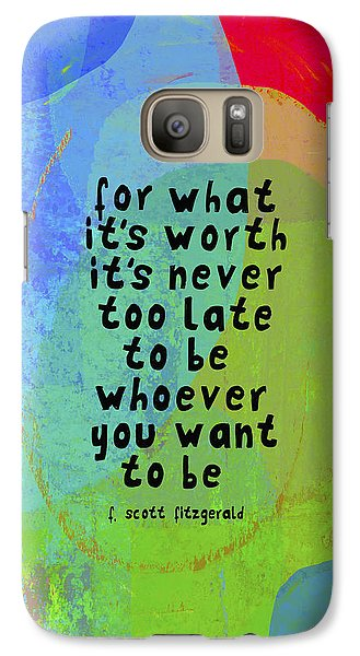 Galaxy Case featuring the mixed media It's Never Too Late by Lisa Weedn