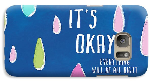 Galaxy Case featuring the painting It's Okay by Lisa Weedn