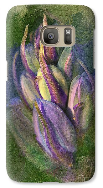 Galaxy Case featuring the digital art Itty Bitty Baby Bluebells by Lois Bryan