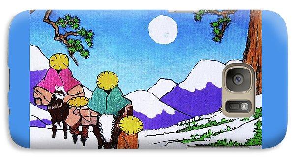 Galaxy Case featuring the painting Iwaki Wa Fuyu - San Ni by Roberto Prusso