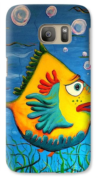 Galaxy Case featuring the painting Izzy On The Itch by Vickie Scarlett-Fisher