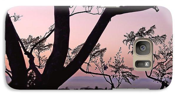 Jacaranda Silhouette Galaxy S7 Case by Rona Black